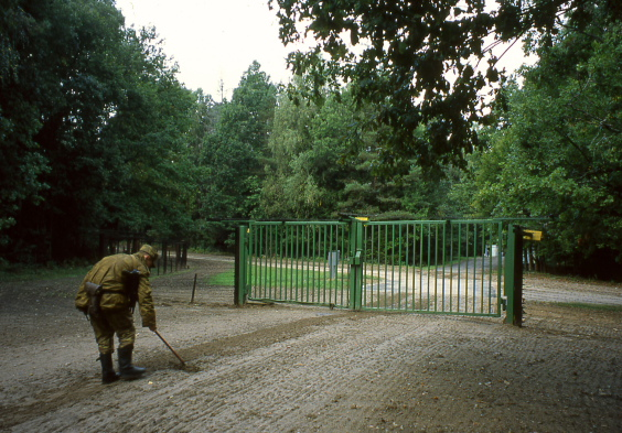 Grudzki border between Poland and Bielorussia